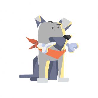Puppies Dog 06 Clip Art - SVG & PNG vector