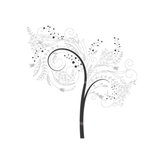 Abstract Trees 4 3 Clip Art - SVG & PNG vector