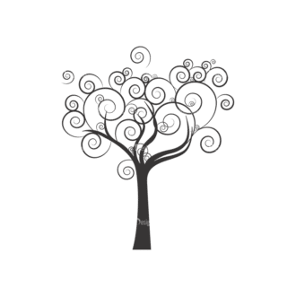 Abstract Trees Vector 1 5 Clip Art - SVG & PNG vector