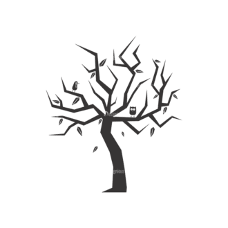 Abstract Trees Vector 3 4 Clip Art - SVG & PNG vector