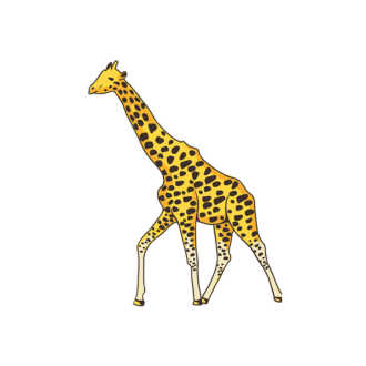 Africa Animals Vector 1 Vector Giraffe Clip Art - SVG & PNG vector
