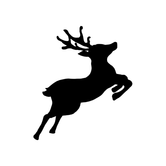 Animal Silhouettes 22 Vector Large Reindeer 06 Clip Art - SVG & PNG vector