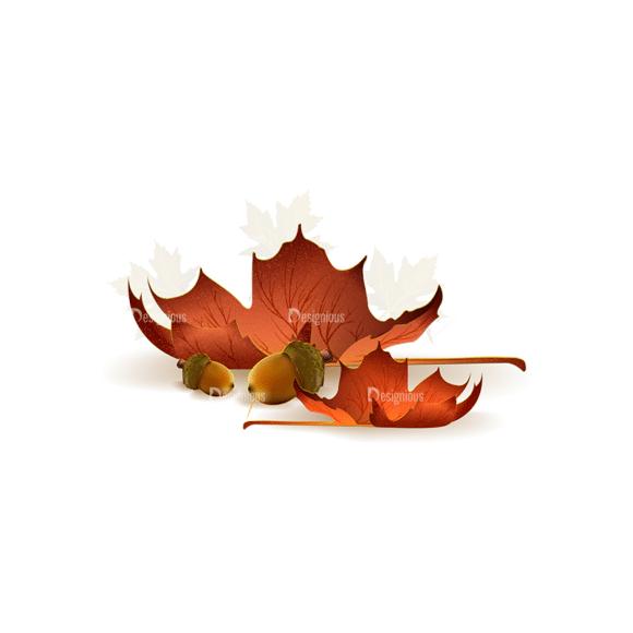 Autumn Elements Vector Leaves 09 Clip Art - SVG & PNG vector