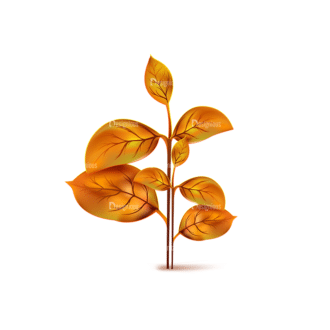 Autumn Elements Vector Leaves 12 Clip Art - SVG & PNG vector