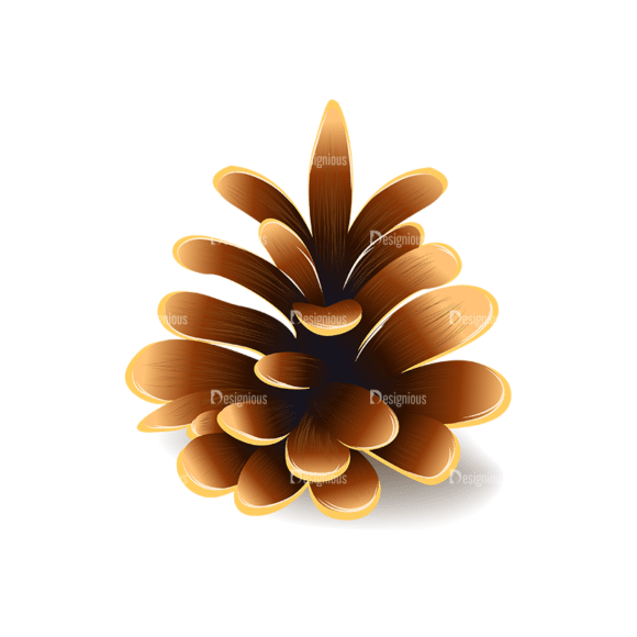 Autumn Elements Vector Pinecone 20 Clip Art - SVG & PNG vector