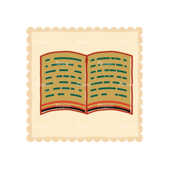 Back To School Vector Set 11 Vector Book Clip Art - SVG & PNG vector