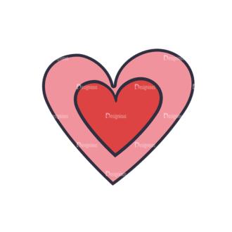 Back To School Vector Set 123 Vector Heart Clip Art - SVG & PNG vector