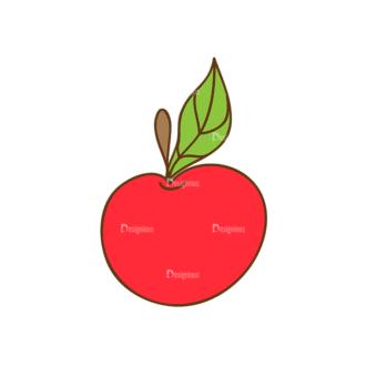 Back To School Vector Set 13 Vector Apple Clip Art - SVG & PNG vector