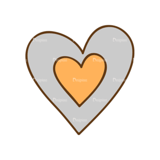 Back To School Vector Set 13 Vector Heart 09 Clip Art - SVG & PNG vector