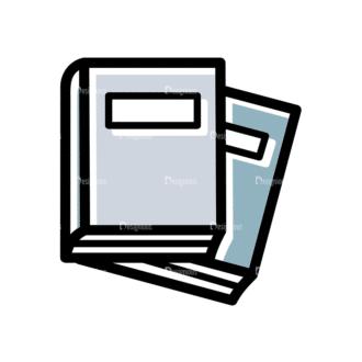 Back To School Vector Set 15 Vector Books Clip Art - SVG & PNG vector