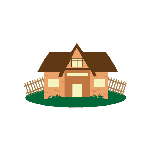 Buildings Vector Set 2 Vector House 01 Clip Art - SVG & PNG vector