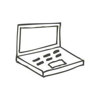 Business Idea Doodle Set 1 Vector Laptop Clip Art - SVG & PNG vector