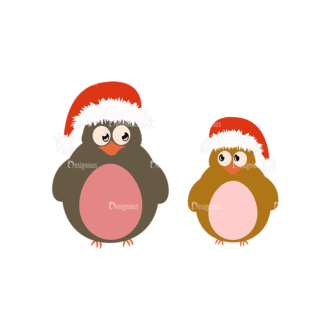Christmas Kids And Animals Vector Bird 12 Clip Art - SVG & PNG vector