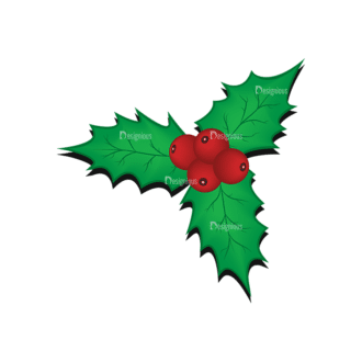 Christmas Tree Ornaments Vector Mistletoe 12 Clip Art - SVG & PNG tree