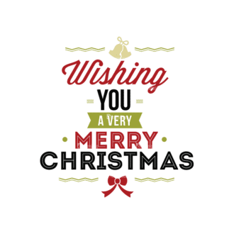 Christmas Typography 1 Vector Expanded Text 09 Clip Art - SVG & PNG vector