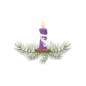 Christmas Vector Candles Vector Candle 06 Clip Art - SVG & PNG vector