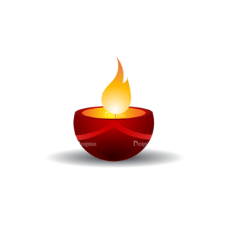 Christmas Vector Candles Vector Candle 09 Clip Art - SVG & PNG vector