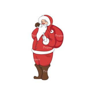 Christmas Vector Santa Vector Santa 04 Clip Art - SVG & PNG vector