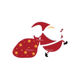 Christmas Vector Santa Vector Santa 12 Clip Art - SVG & PNG vector