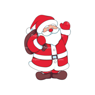 Christmas Vector Santa Vector Santa 14 Clip Art - SVG & PNG vector