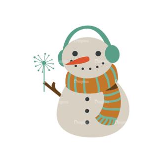 Christmas Vector Set 8 Vector Snowman Clip Art - SVG & PNG vector