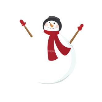 Christmas Vector Snowmen Vector Snowman 02 Clip Art - SVG & PNG vector
