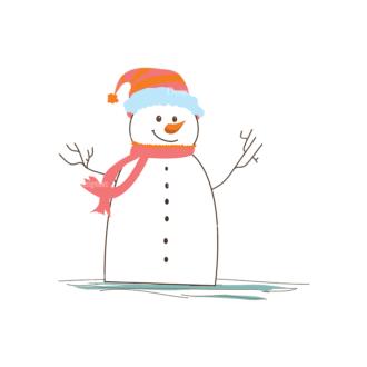 Christmas Vector Snowmen Vector Snowman 05 Clip Art - SVG & PNG vector