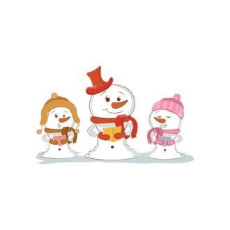 Christmas Vector Snowmen Vector Snowman 06 Clip Art - SVG & PNG vector