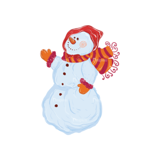 Christmas Vector Snowmen Vector Snowman 10 Clip Art - SVG & PNG vector