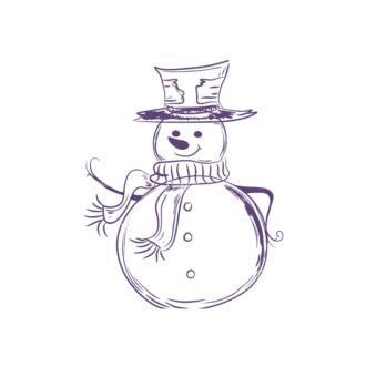 Christmas Vector Snowmen Vector Snowman 12 Clip Art - SVG & PNG vector