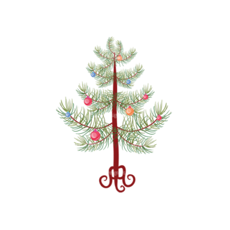 Christmas Vector Trees Vector Christmas Tree 08 Clip Art - SVG & PNG tree