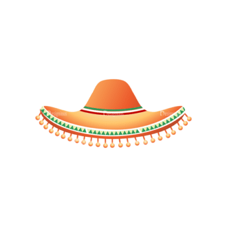 Cinco De Mayo Vector Elements Vector Hat Clip Art - SVG & PNG vector