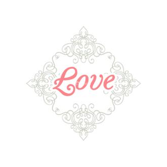 Decorative Valentines Day Vector Set 5 Vector Love Clip Art - SVG & PNG vector
