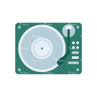 Disc Jockey Vector Dj Mix Player Clip Art - SVG & PNG vector
