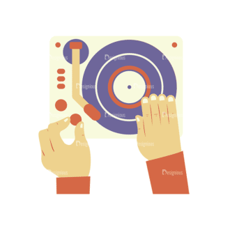 Disc Jockey Vector Dj Playing Clip Art - SVG & PNG vector