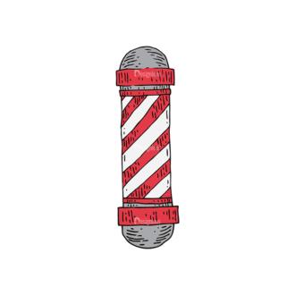 Engraved Barber Shop Vector Set 1 Vector Sign Clip Art - SVG & PNG vector