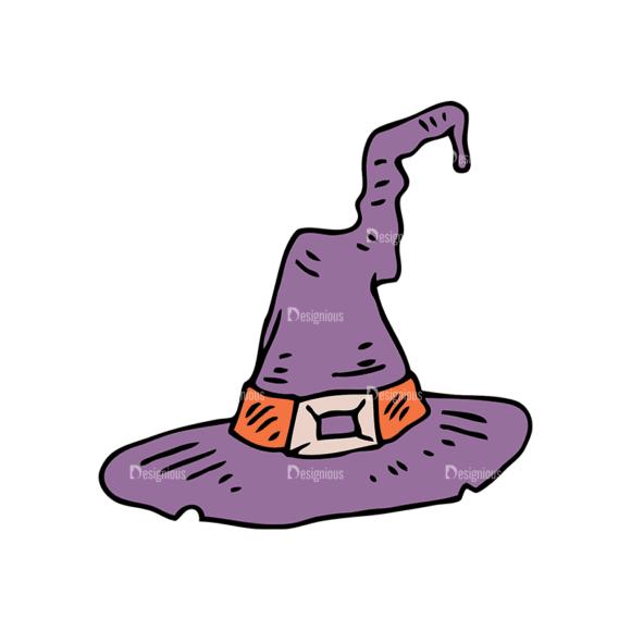Engraved Halloween Vector Set 1 Vector Witch Hat Clip Art - SVG & PNG vector