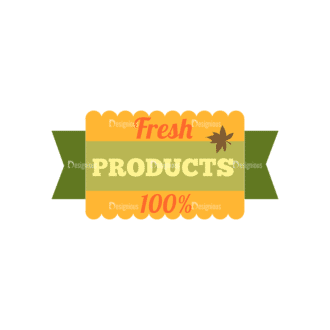 Farming Fresh Labels Set 2 Vector Text 14 Clip Art - SVG & PNG vector
