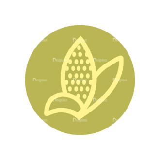 Farming Fresh Labels Set 2 Vector Corn 12 Clip Art - SVG & PNG vector