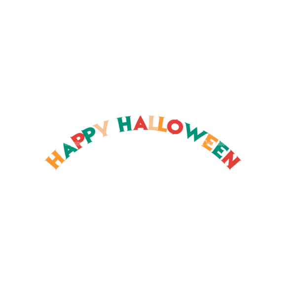 Flat Halloween Scrapbooking Set 1 Vector Happy Halloween Clip Art - SVG & PNG vector