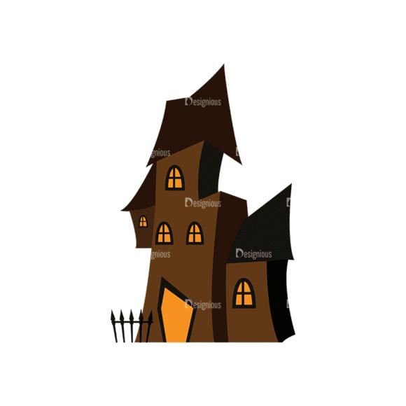 Halloween Vector Elements Set 2 Vector Haunted House Clip Art - SVG & PNG vector