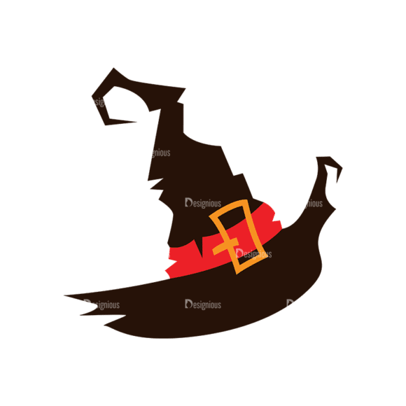 Halloween Vector Elements Set 2 Vector Witch Hat 07 Clip Art - SVG & PNG vector