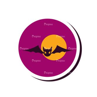 Halloween Vector Set 12 Vector Bat Clip Art - SVG & PNG vector