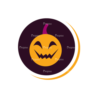 Halloween Vector Set 12 Vector Pumpkin Clip Art - SVG & PNG vector