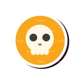 Halloween Vector Set 12 Vector Skull Clip Art - SVG & PNG vector