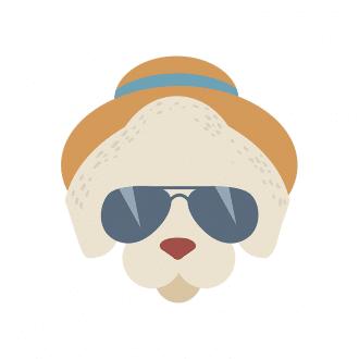 Hipster Animals Vector 2 Vector Dog Clip Art - SVG & PNG vector
