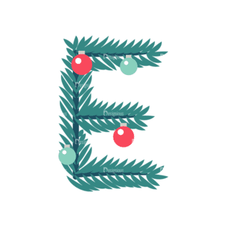 Illustrated Xmas Typography Vector E Clip Art - SVG & PNG vector
