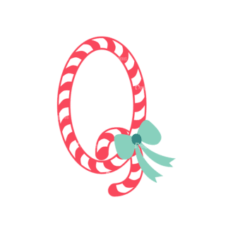 Illustrated Xmas Typography Vector Q Clip Art - SVG & PNG vector