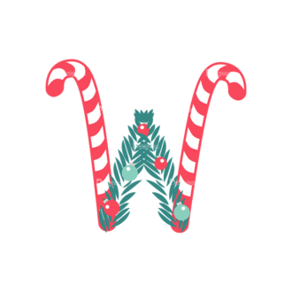 Illustrated Xmas Typography Vector W Clip Art - SVG & PNG vector