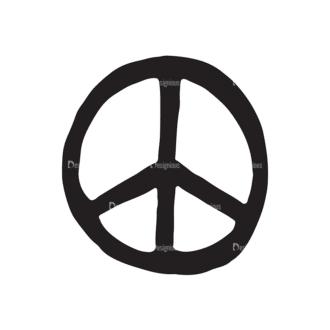 International Day Of Peace Elements Set 1 Vector Symbol Clip Art - SVG & PNG vector